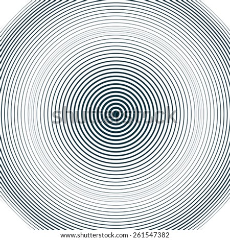 Moire pattern, op art background. Relaxing hypnotic backdrop with geometric black lines. Abstract tiling. - stock vector