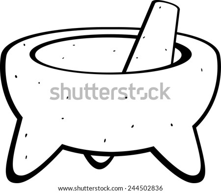 molcajete mexican grinding tool - stock vector