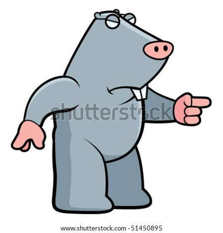 Mole Angry - stock vector