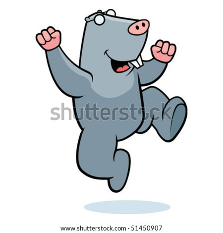 Mole Jumping - stock vector