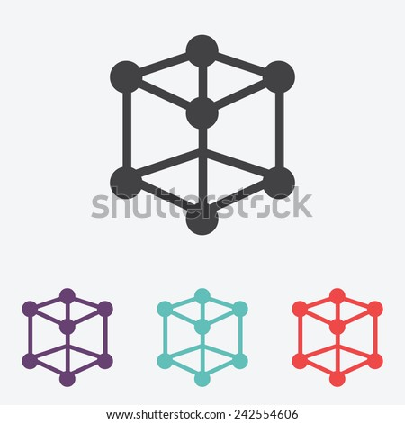 molecular compound vector icon - stock vector
