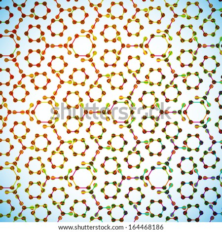molecular structure, abstract background - stock vector
