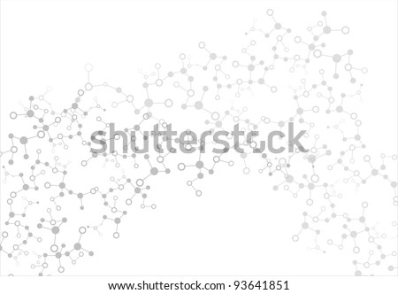 molecule - stock vector