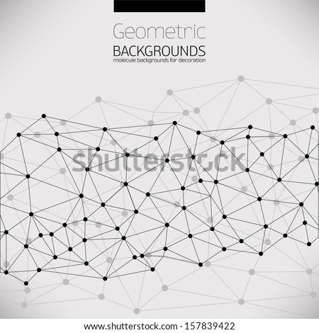 Molecule And Communication Background. Vector Illustration, Graphic Design Useful For Your Design - stock vector