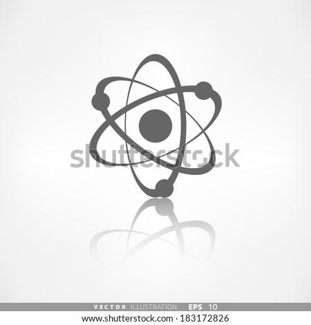 Molecule, atom icon - stock vector