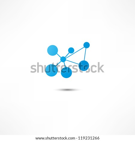 Molecule Icon - stock vector