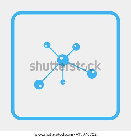 Molecule icon. - stock vector