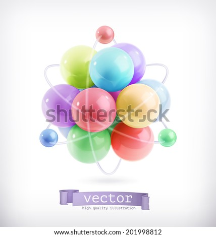 Molecule icon vector - stock vector