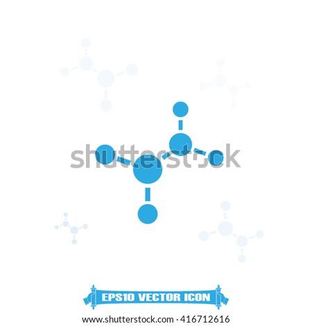 Molecule icon vector. - stock vector