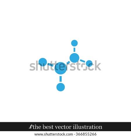 molecule icon vector illustration eps10. - stock vector