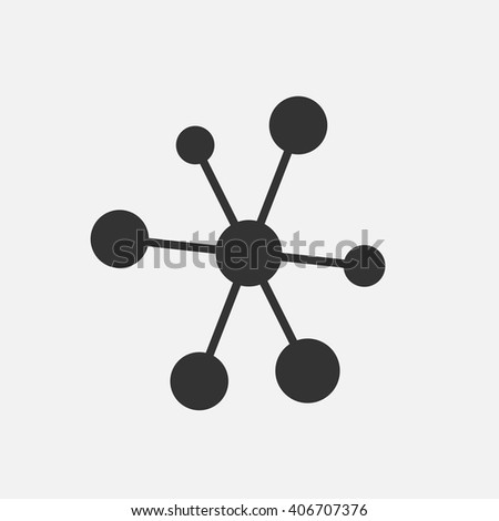 Molecule icon vector, solid illustration, pictogram isolated on white - stock vector