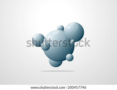 molecule structure background. eps10 vector illustration