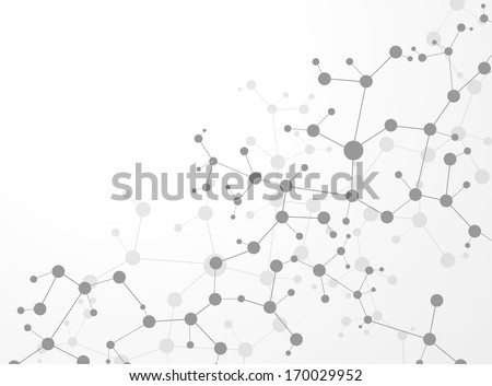 Molecule structure  vector illustration background  - stock vector