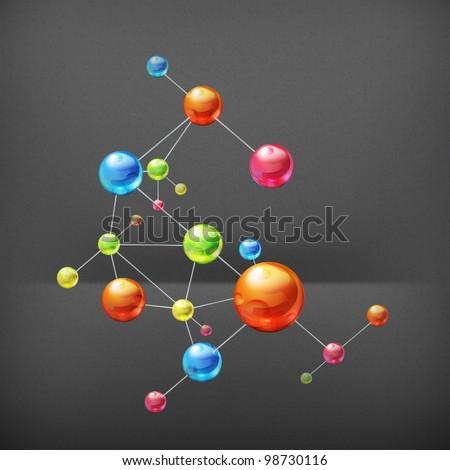 Molecule, vector - stock vector