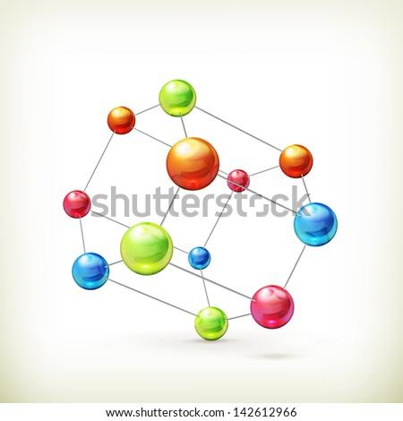 molecule vector icon - stock vector