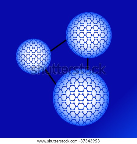 molecules - stock vector