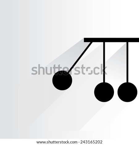 momentum concept on white background, flat and shadow theme - stock vector