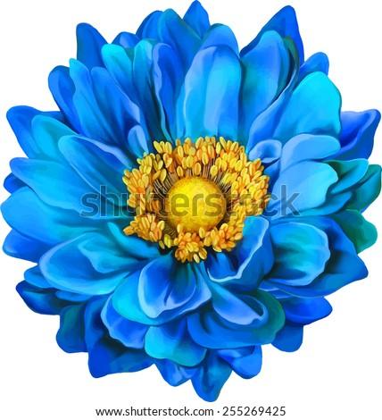 Mona lisa flower blue flower spring stock vektr 255269425 mona lisa flower blue flower spring flowerolated on white background mightylinksfo