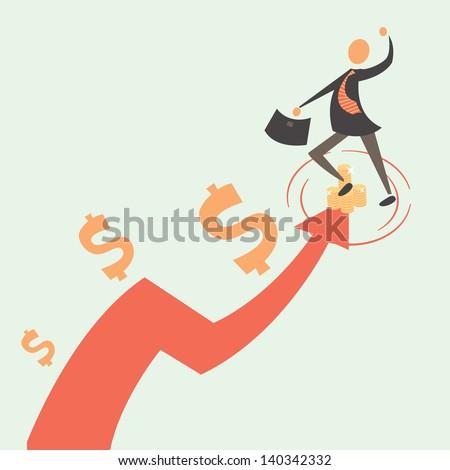 monetary profit - stock vector