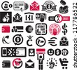 Money and banking icons set. Fast credit signs collection. - stock vector