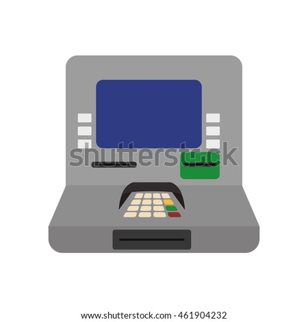 Money and Financial item concept represented by atm icon. Isolated and flat illustration