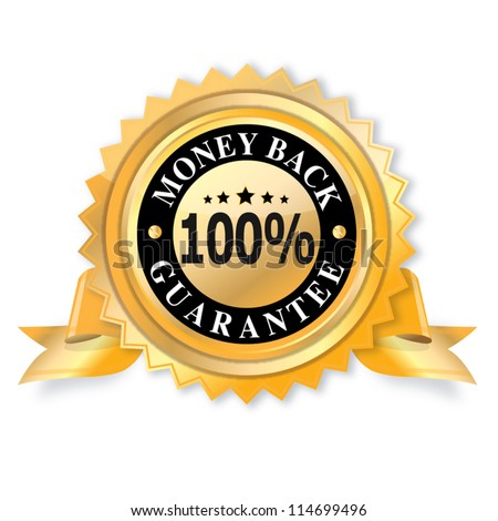 Money Back Guarantee vector design - stock vector