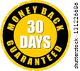 money back guaranteed 30 days - stock photo