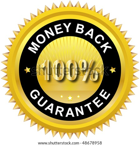 Money back label - stock vector