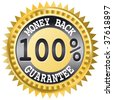 Money back label - this image is a vector illustration - stock vector