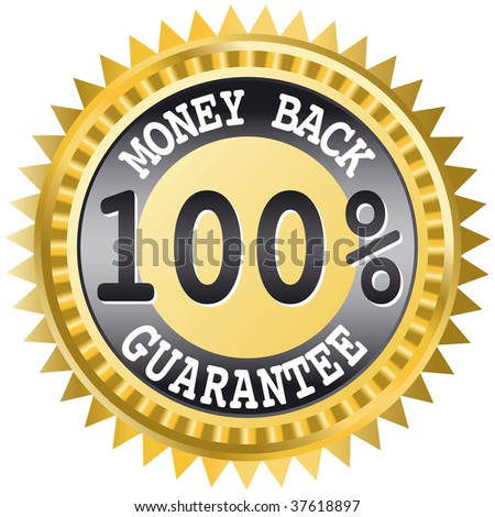 Money back label - this image is a vector illustration