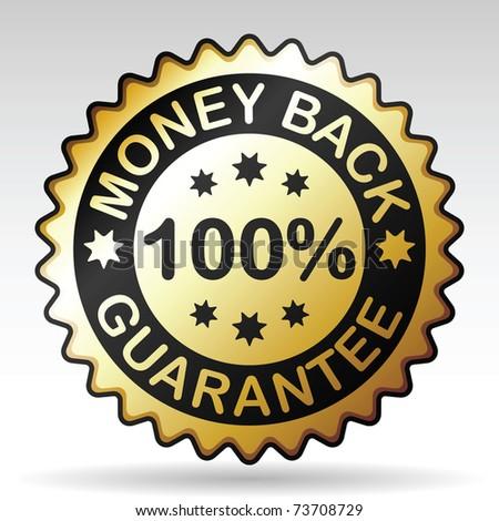 money back label, vector EPS version 8 - stock vector