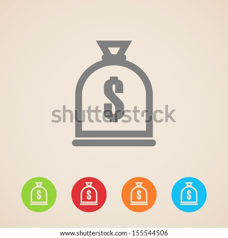 money bag icon - stock vector