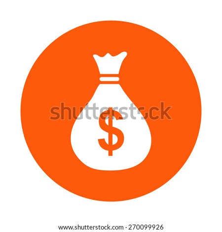 Money bag icon. Dollar USD currency symbol. Flat design style. EPS 10. - stock vector