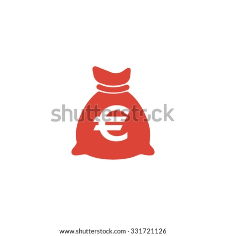 Money bag icon. Vector illustration EPS 10  - stock vector