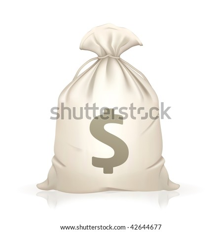 Money Bag, vector - stock vector