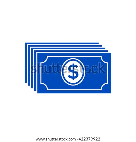 Money banknotes stack icon. - stock vector