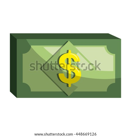 Money bill isolated flat icon, vector illustration graphic design.