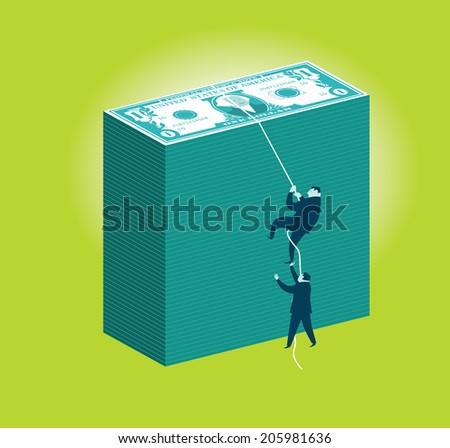 Money Climbers - stock vector