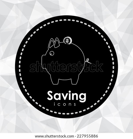 Money design over abstract background,  vector illustration - stock vector
