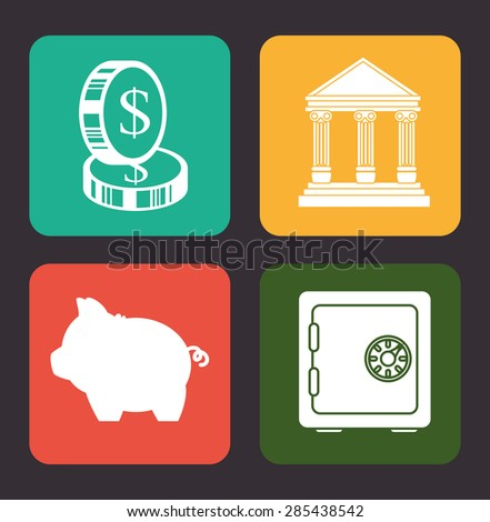 Money design over gray background, vector illustration. - stock vector