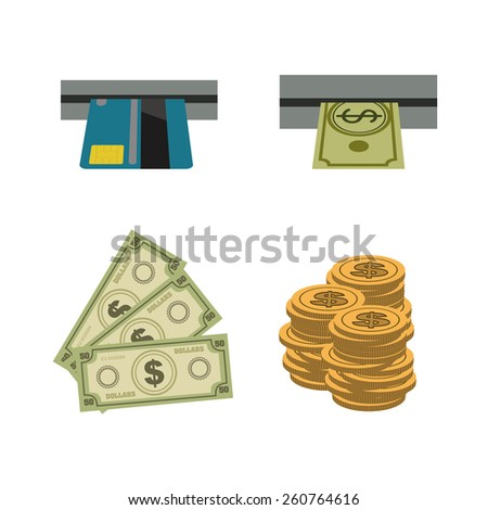 Money design, vector illustration