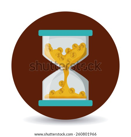 Money design, vector illustration over white background