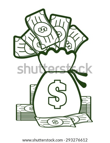 Money digital design, vector illustration.