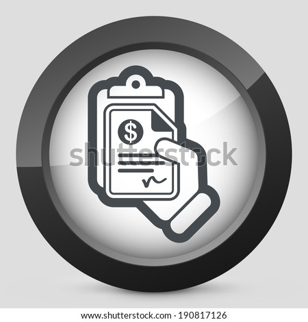 Money document icon - stock vector