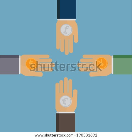 Money Exchange - stock vector