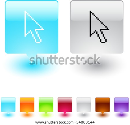 Money exchange glossy square web buttons. - stock vector