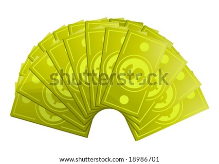 Money fan - stock vector