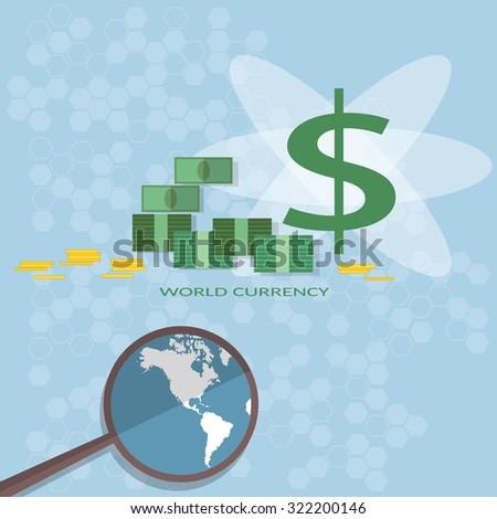 Money financing investments search for investors business online payments transfer banking vector - stock vector