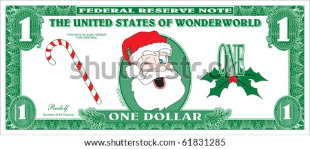 Money for Christmas - stock vector