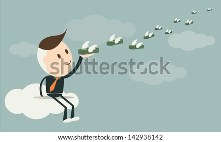 Money for success, business concept , vector format eps10